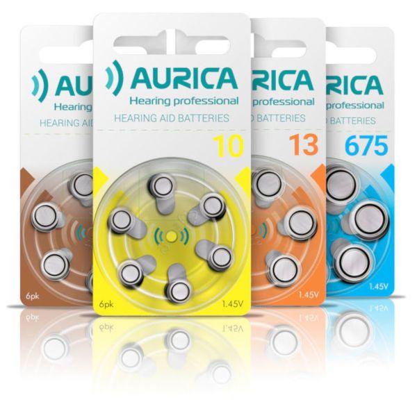 Батарейки Aurica для слуховых аппаратов